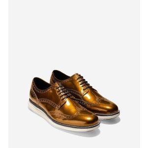 OriginalGrand Wingtip Oxfords in Copper-Ivory   Cole Haan