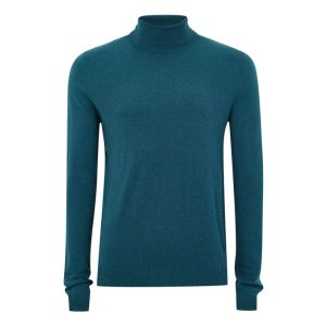 Teal Marl Roll Neck Sweater