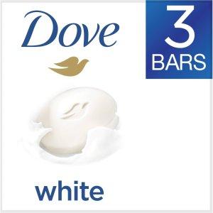 Dove Beauty Bar, White, 4 Oz, 3 Ct  by Dove