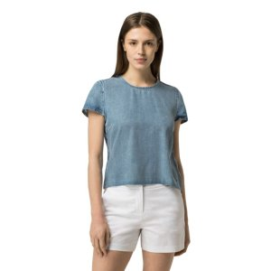 FLUID CHAMBRAY TEE   Tommy Hilfiger