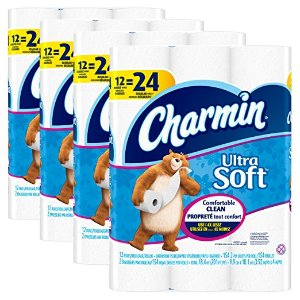 $19.75 Charmin Ultra Soft Toilet Paper, Bath Tissue, Double Roll, 48 Count