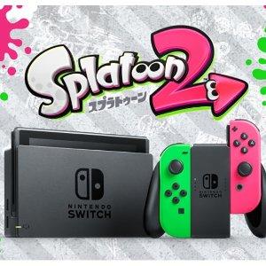 $379.99Nintendo Switch Hardware with Splatoon 2 + Neon Green/Neon Pink Joy-Cons (Nintendo Switch)