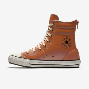 Converse Chuck Taylor All Star Leather and Faux Shearling High Rise