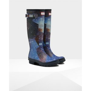 Womens Blue Tall Space Camo Boots | Official Hunter Boots Store