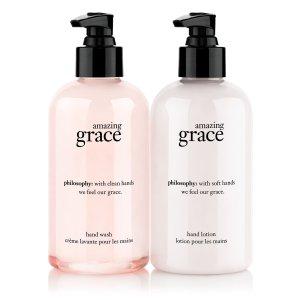 amazing grace handcare duo | philosophy gift sets