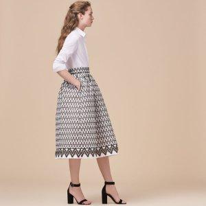 JOSY Lace midi skirt - Skirts & Shorts - Maje.com