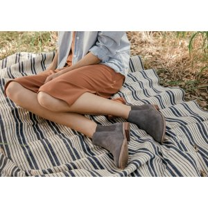 Forged Iron Grey Suede Women's Ella Booties   TOMS®