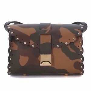Furla - Furla Amazzone Leather Camouflage Shoulder Bag - 851837-CICCOLATOB, Women's Shoulder Bags | Italist