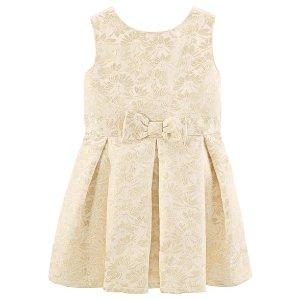 Sparkle Floral Jacquard Dress