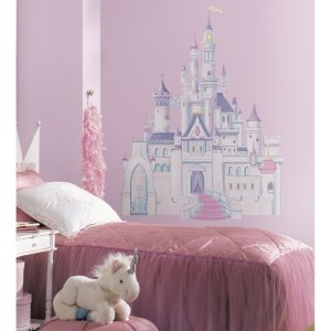 $11.85 (原价$25.99)史低价:Roommates 迪士尼城堡墙贴,美国产