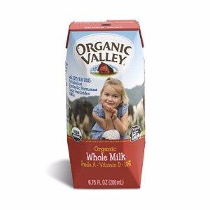 $11.89 Organic Valley, Organic Whole Milk, 6.75 fl oz (Pack of 12)