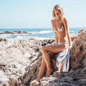 Tavik Nahla Emma Tapioca Floral Bikini Top   South Moon Under