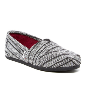 TOMS | Classic Silver Metallic Stripe Slip-On | Nordstrom Rack