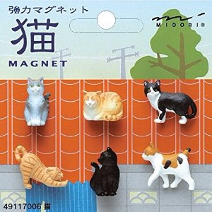 $5.67 Midori Japan Cat Magnet 6 Pieces @Amazon Japan