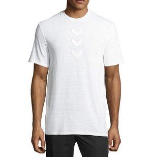 2折价 $42.5 (原价$215)Neil Barrett 箭头图案男款短袖T恤 2色