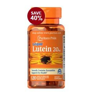 Lutein 20 mg with Zeaxanthin 120 Softgels | Eye Health Supplements | Puritan's Pride