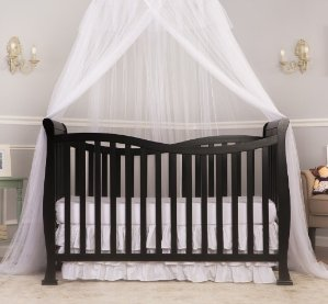 $119Dream On Me Violet 7 in 1 Convertible Life Style Crib, Black