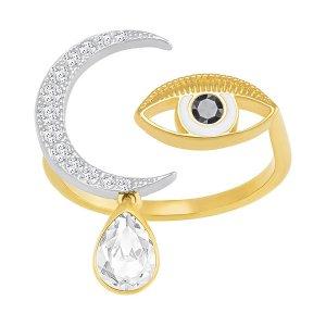 Gipsy Ring, White - Jewelry - Swarovski Online Shop