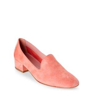 Pink Venetian Suede Loafers