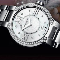 $499(Orig $$2450)76% Off+ EXTRA $100 OFF RAYMOND WEIL Noemia Mother of Pearl Diamond-Studded Dial Ladies Watch 5927-STS-00995
