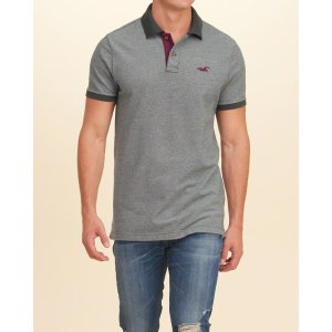 Guys Textured Pique Polo | Guys Clearance | HollisterCo.com
