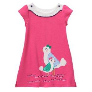 Toddler Girls Hot Pink Seagull Dress by Gymboree