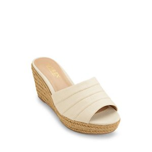 Karlia Linen Wedge Sandals