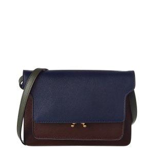 Marni Marni Bandoleer Double Trunk Leather Shoulder Bag (441709701) | Bluefly.Com