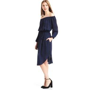 Off-shoulder tassel dress | Gap