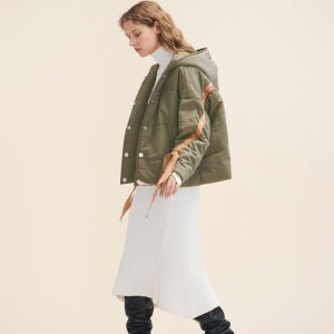 GUEL Cropped hooded down jacket