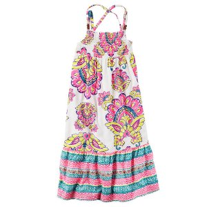 Toddler Girl Smocked Paisley Maxi Dress | Carters.com