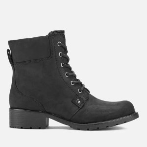 Clarks Women's Orinoco Spice Leather Lace Up Boots - Black - FREE UK Delivery
