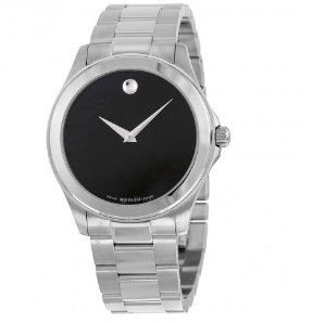 Movado Junior Sport Black Dial Stainless Steel Men's Watch