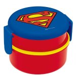 SKATER 圆形便当盒 500ml 蝙蝠侠/超人 日本制 特价