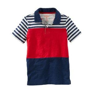 Kid Boy Striped Colorblock Jersey Polo | OshKosh.com
