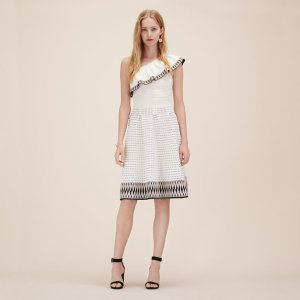 RASTA Jacquard knit asymmetrical dress - Dresses - Maje.com
