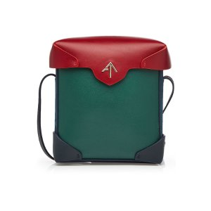 Mini Pristine Leather and Suede Shoulder Bag