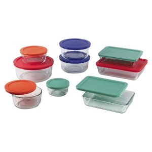 Pyrex® Simply Store® 18-pc Set w/ Multi-Colored Lids