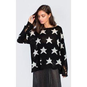 Seeing Stars Lenon Sweater in Funfetti Yarn - Wildfox