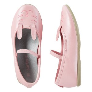 Toddler Girl Carter's Bunny Ballet Flats | Carters.com