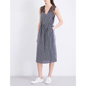 CLAUDIE PIERLOT - Rare striped crepe dress  