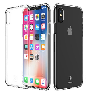$4iPhone X Case, Baseus Shock-Absorption Airbag Cushion Thin Fit Crystal Clear Soft Premium TPU Cover for Apple iPhone X / 10 (2017 Release) (Clear)