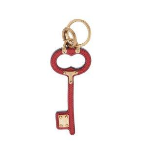 Prada Saffiano Leather & Hardware Keychain