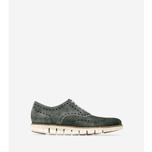 ZEROGRAND Wingtip Oxfords in Shingle Suede | Cole Haan