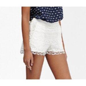 Castaway Lace Mini Shorts