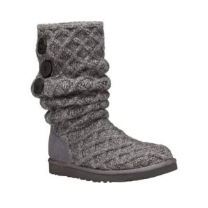 Woven Wool Knit Tall Boots