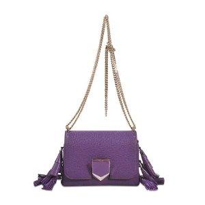 Lockett Petite Bag With Tassels Jimmy Choo Purple - Monnier Frères
