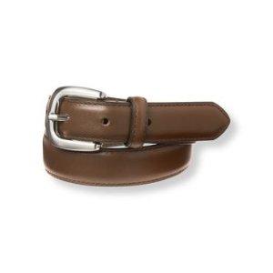 Baby Boy Deep Brown Leather Belt at JanieandJack