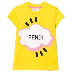 Fendi Yellow Branded Cloud Tee | AlexandAlexa