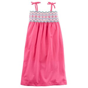 Toddler Girl Jersey Embroidered Maxi Tie Dress | Carters.com